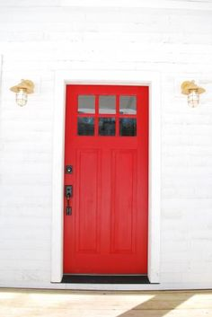 Red Front Doors Are Very Welcoming Love Em
