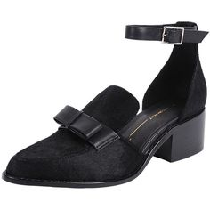 Intentionally Blank Dean (€130) ❤ liked on Polyvore featuring shoes, sandals, black, bow shoes, black ankle strap shoes, black ankle strap sandals, mid-heel shoes and ankle tie sandals