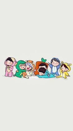 So cute Bts muster So cute Bts muster Bts Wallpaper Desktop, Chibi Wallpaper, Kawaii Wallpaper, Cartoon Wallpaper, Cute Wallpapers, Bts Chibi, Bts Jin Cute, Bts 4th Muster, Bts Anime