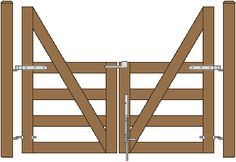 Double Cape Cod Gates 4ft & 4ft Central Eye Hinges