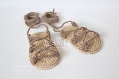 Crochet sandalias bebé gladiador botines zapatos por EditaMHANDMADE