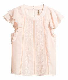 Lace-trimmed Blouse $17.95 | H&M US