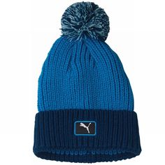 941e5f1d748 Enjoy maximum warmth and comfort on the course with this great value mens  cat patch pom golf beanie hat by Puma!