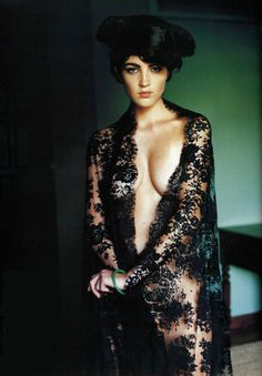 Sheer black lace fabric or an actual robe? I don't know but if it's the latter, I need it!