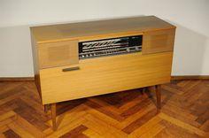 60s 70s Vtg Telefunken 769 Music Bar Turntable Sideboard Record Player Radio