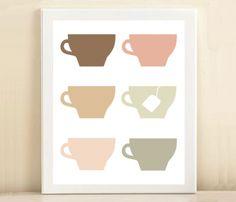 Tea Cups Print