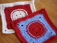 Ravelry: That Button Square pattern by Amelia Beebe Crochet Blocks, Crochet Squares, Granny Squares, Crochet Granny, Irish Crochet, Free Crochet, Square Patterns, Afghan Crochet Patterns, Gypsy Crochet
