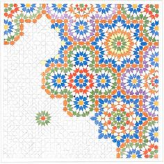 Motif with octagon as underlying structure Geometric Patterns, Geometric Designs, Geometric Art, Textures Patterns, Moroccan Art, Turkish Art, Islamic Art Pattern, Pattern Art, Motifs Islamiques