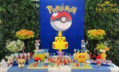 Festa infantil com o tema que é febre do momento Pokémon, confira detalhes e inspirações