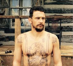 James Franco Gets Shirtless and Tattooed for New Role #InkedMagazine #movie #temptattoos #tattoos #role #acting