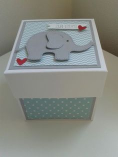 Exploding Baby Box by Ruth G. #papercrafts #scrapbook #baby