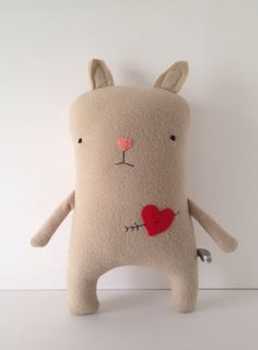 Love Chipmunk with Heart and Arrow Tattoo - Valentine's Day - Finkelstein's Center Handmade Creature