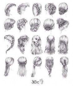 Hair styles for long hair #longhairstyles Easy Drawing Steps, Step By Step Drawing, Easy Drawings, Pretty Drawings, Long Hair Drawing, Girl Hair Drawing, How To Draw Braids, How To Draw Hair, Drawing Hair Tutorial
