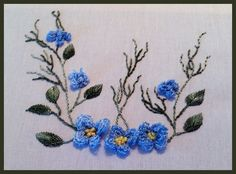 Cross-Needle Hydrangea Brazilian Embroidery - stitchin fingers