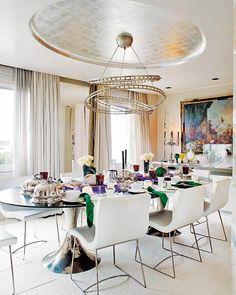 Sala de jantar moderna em tons nude | Eu Decoro
