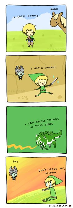 The Legend of Zelda: Twilight Princess summary comic. Basically this is totally accurate