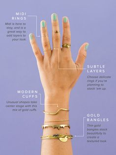 4 Essentials for Creating a Perfectly Stacked Jewelry Look via Brit + Co.