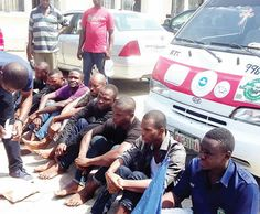 Bayelsa State NANS Leader And Seven Others Paraded For Murder And Other Crimes