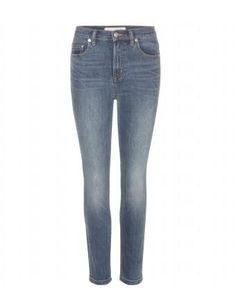 Ella Skippy Crop Slim-Fit Jeans Marc by Marc Jacobs #croppedjeans #marcjacobs #designer #covetme #fashion #denim