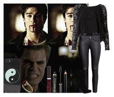 """""""#The Little Salvatore"""" by nare-shsms ❤ liked on Polyvore featuring moda, House of Deréon, H&M, Clarins, Becca, Dr.Hauschka, Napoleon Perdis, With Love From CA, DamonSalvatore e paulwesley"""