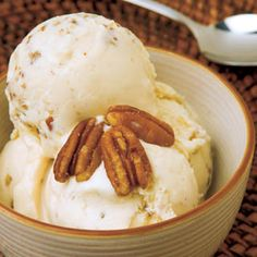 Homemade Butter Pecan Ice Cream    No need to head to the grocery's freezer section – make this summertime favorite right at home.