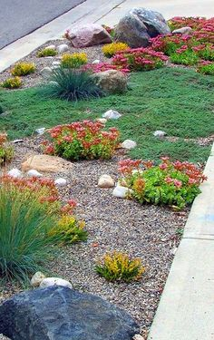 Fabulous Xeriscape Front Yard Design Ideas and Pictures 30 - Awesome Indoor & Outdoor Gravel Landscaping, Small Front Yard Landscaping, Front Yard Design, Gravel Garden, Landscaping With Rocks, Landscaping Ideas, Backyard Ideas, Garden Paths, Gravel Patio