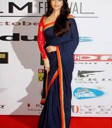 Buy Blue embroidered Georgette saree with blouse aishwarya-rai-saree online