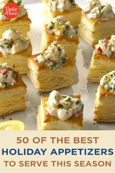 50 of the Best Holiday Appetizers to Serve This Season Best Holiday Appetizers, Yummy Appetizers, Appetizers For Party, Appetizer Recipes, Holiday Recipes, Snack Recipes, Holiday Treats, Christmas Recipes, Bread Recipes