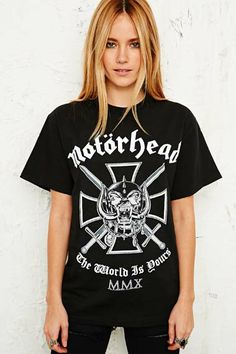 Motorhead Tee in Black at Urban Outfitters