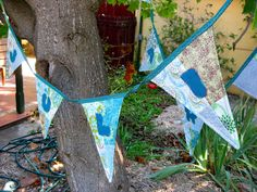Patchwork name bunting with charm squares tutorial