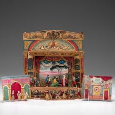 Pollock Toy Theater with Actors and Scenery : Lot 166