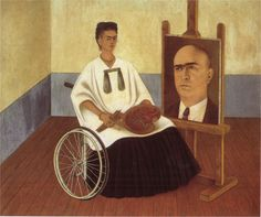 kahlo self portrait with portrait of Dr. Farill, 1951 - Google Search