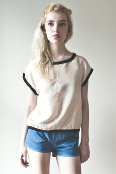 Silk Perfect Top  Little Houses by monicaus on Etsy, $168.00