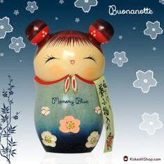 Kokeshi doll - Memory Blue   Available on KokeshiShop.com