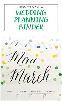 DIY Wedding planning binder + free printables!