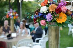 Beautiful floral arrangements by White Willow Events adorn the tables at Salisbury House.
