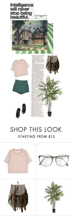 """""""Intelligence is beautiful"""" by purplehooligan ❤ liked on Polyvore featuring OLIVIA MILLER, Nearly Natural and Puma"""