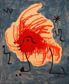Birds encircling the star of hope, 1978, Joan Miro