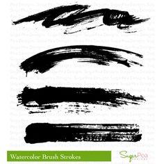 SugarPea Designs - Sugary Sweet and Whimsical Stamp Sets, SugarCut Thin Steel Dies, exclusive Paper Pads, and Supplies. Trash Polka Art, Trash Art, Tattoo Trash, Trash Polka Tattoo, Paint Strokes, Brush Strokes, Brush Stroke Tattoo, Mark Tattoo, Tattoo Ink