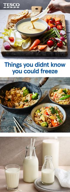 Are you making the most of your freezer? From milk and eggs to herbs or wine it's time to cut back on food waste by making the most of your freezer and find out how to freeze all your extra food. Batch Cooking, Just Cooking, Frozen Yogurt Bites, Turkey Curry, Banana Nice Cream, How To Make Guacamole, Tesco Real Food, Midweek Meals, Milk And Eggs