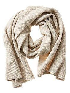 Textured Metallic Blanket Scarf Wish I was not allergic.