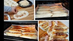 Delicious chicken pies with a wonderful dough and a unique way of forming do not miss it / Yum Yum Chicken, Dessert Recipes, Desserts, Sandwich Recipes, Hot Dog Buns, Chicken Recipes, French Toast, Sandwiches, Cooking Recipes