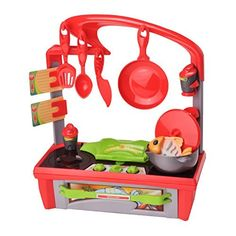 Lanard Cook N' Kitchen Kitchenette - kid's - home - house - Kitchen Room - Kitchen collection - Kitchenette play set - cooking - Designable and stylish. Was: $134.28 Now: $43.91