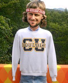 vintage 80s sweatshirt cu BOULDER colorado by skippyhaha on Etsy