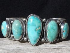 Jadore Native American jewelry, too. This features Persian turquoise and is made by Navajo artist Guy Hoskie. leannepotts margqnnjf south-western-jewelry