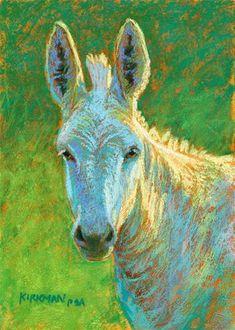 "DPW Fine Art Friendly Auctions - ""Boo"" (pastel, 7x5 inches) by Rita Kirkman"