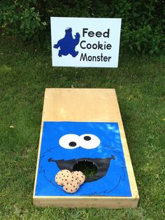 Sesame Street Party Fun and Games Not Your Normal Steam - Sesame Street Games - Feed Cookie Monster Monster 1st Birthdays, Monster Birthday Parties, Elmo Party, 2nd Birthday Parties, First Birthdays, Party Kit, Ideas Party, Lalaloopsy Party, Sofia Party