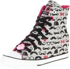 Skechers Women's Gimme-Mustache Fun Fashion Sneaker - List price: $64.99 Price: $29.98 Saving: $35.01 (54%)