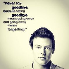 Not only does this work for Cory, but everyone that ever has to leave. Never say goodbye