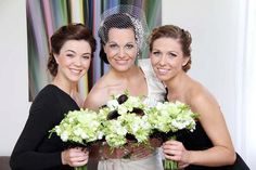 Love the Black & White Bride & Maids by Total Brides hair & makeup
